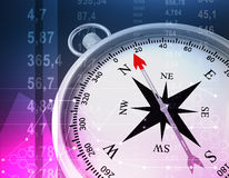 Abstract illustration with compass and random Royalty Free Stock Images
