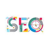 Abstract Illustration concept - SEO word logo - Search Engine Optimization Stock Photos