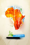Abstract illustration continent Africa Stock Image