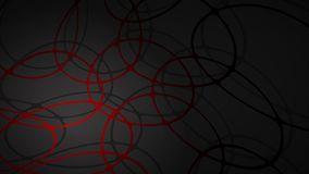 Abstract background of intersecting circles. Abstract illustration of dark red intersecting circles with shadows on black background royalty free illustration