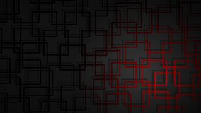 Abstract background of intersecting squares. Abstract illustration of dark red intersecting squares with shadows on black background royalty free illustration