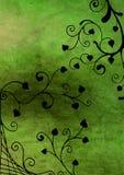 Green floral grunge royalty free illustration