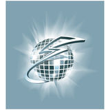 Abstract illustration: disco club mirror ball (glitter ball) wit Stock Image