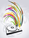 Abstract illustration of a dj-mixer, vector Royalty Free Stock Photography
