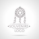 Abstract illustration of dreams catcher icon with Stock Photography