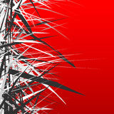 Abstract illustration with dynamic grungy lines. Textured red pa Royalty Free Stock Photos