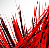Abstract illustration with dynamic grungy lines. Textured red pa Stock Photo