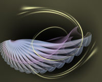 Abstract illustration of elegant wing. Royalty Free Stock Photos