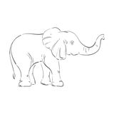 Abstract illustration of an elephant. Stock Photo