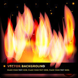 Abstract illustration of fire. Vector. Abstract fiery background for your design with a place for the text Stock Photo