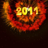 Abstract illustration of fireworks in the sky Stock Image