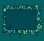 Abstract illustration frame royalty free illustration