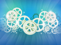 Abstract illustration of gear wheels Stock Image
