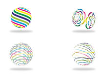 Abstract colorful globe or sphere Royalty Free Stock Image