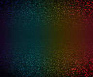 Abstract illustration. Glowing mosaic of circles on dark background Stock Photography