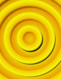 Abstract Illustration - Golden 3-d circles Stock Photos