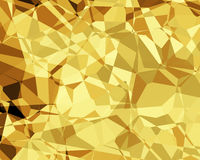 Abstract Illustration Golden Fractals Stock Photography
