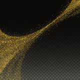 Abstract illustration of golden glitter stream. Abstract vector illustration of golden glitter stream Royalty Free Stock Photo