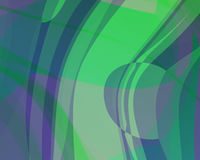 Abstract Illustration: Gree-Purple-Blue Stock Photo