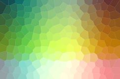 Abstract illustration of green, blue, orange and pink middle size hexagon background. Abstract illustration of green, blue, orange and pink middle size hexagon royalty free illustration