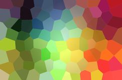 Abstract illustration of green, blue, yellow and red bright big hexagon background. Abstract illustration of green, blue, yellow and red bright big hexagon royalty free illustration