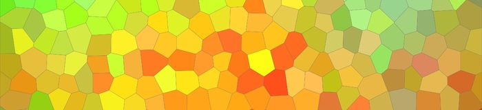 Abstract illustration of green orange blue and red bright Little hexagon banner background, digitally generated. Abstract illustration of green orange blue and royalty free illustration