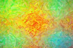 Abstract illustration of green orange blue and red Large color variation Oil Painting background, digitally generated. Abstract illustration of green orange stock illustration