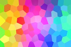 Abstract illustration of green, yellow, purple and blue bright big hexagon background. Abstract illustration of green, yellow, purple and blue bright big vector illustration