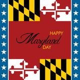 An abstract illustration of Happy Maryland Day in its Flag colors Royalty Free Stock Image