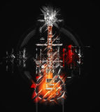 Abstract illustration - Hard Rock guitar Royalty Free Stock Image