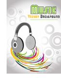 Abstract illustration of a headfone, vector Royalty Free Stock Images
