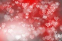 Abstract illustration heart bokeh Stock Photos