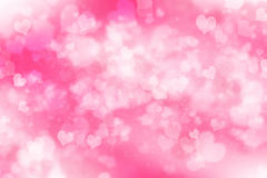 Abstract illustration heart bokeh Royalty Free Stock Photography