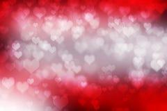 Abstract illustration heart bokeh Stock Photo