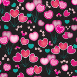Abstract illustration with hearts Stock Photo