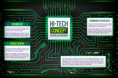 Abstract illustration of hi-tech computer technology Stock Photo