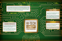 Abstract illustration of hi-tech computer technology Royalty Free Stock Photo