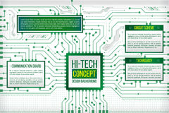 Abstract illustration of hi-tech computer technology Stock Image