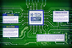 Abstract illustration of hi-tech computer technology Royalty Free Stock Images