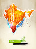 Abstract illustration India. Abstract illustration of the continent India Stock Photography