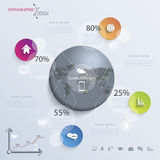 Abstract illustration Infographic or presentation Stock Photos