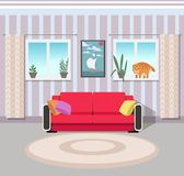 Abstract  illustration of interior of a guest room. Illustration of interior of a guest room Royalty Free Stock Photos