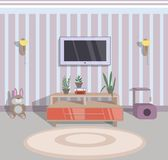 Abstract  illustration of interior of a guest room. Illustration of interior of a guest room Stock Photography