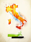 Abstract illustration Italy. Abstract illustration of the continent Italy Royalty Free Stock Images