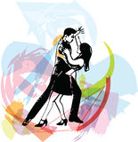 Abstract illustration of Latino Dancing couple. Abstract drawing of Latino Dancing couple illustration royalty free illustration