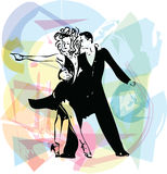 Abstract illustration of Latino Dancing couple Stock Images
