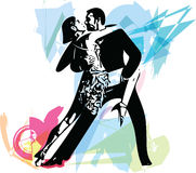 Abstract illustration of Latino Dancing couple Royalty Free Stock Images