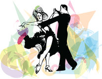 Abstract illustration of Latino Dancing couple Stock Photo