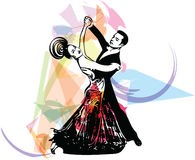 Abstract illustration of Latino Dancing couple. Abstract drawing of Latino Dancing couple illustration vector illustration