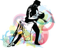 Abstract illustration of Latino Dancing couple. Abstract drawing of Latino Dancing couple vector illustration royalty free illustration